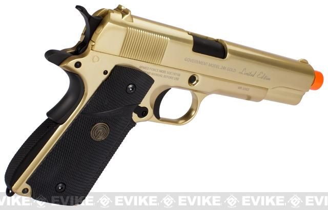 Socom Gear Limited Edition 24K Gold Plated WE 1911 Government Airsoft Gas Blowback Pistol (Shiny Gold Finish)