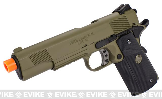 Pre-Order ETA October 2015 Socom Gear WE Full Metal 1911 Special Unit (Desert Tan Color) Airsoft Gas Blowback w/ Lanyard.
