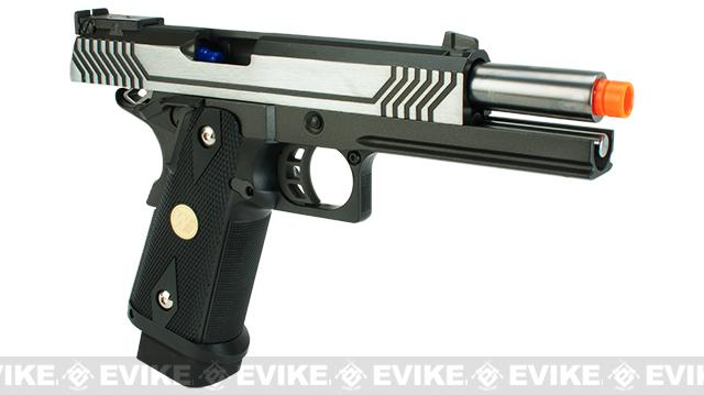 WE-USA 5.1 Expert 2011 HI-CAPA Railed Frame Heavy Weight Airsoft Gas Blowback Pistol - Two-Tone