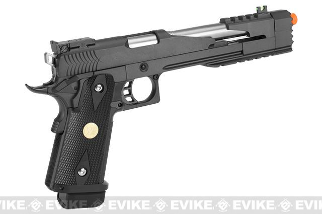 WE USA NG3 7 Xcelerator Dragon Full Metal Hi-CAPA Airsoft Gas Blowback w/ Ext. barrel - Black