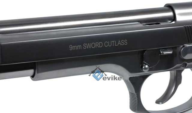 WE M9 Sword Cutlass Airsoft GBB Gas Blowback Pistol