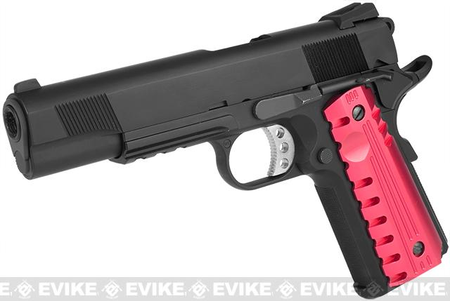z Evike Custom Black Falcon 1911 with Rail - (Red)