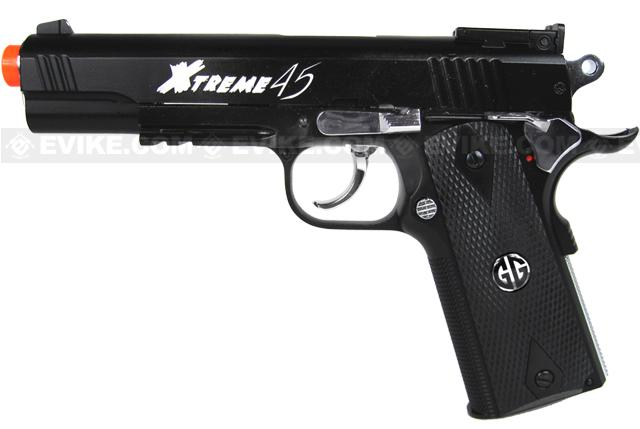 G&G Xtreme 45 Full Metal Co2 Powered Airsoft Gas Blowback Pistol - Black