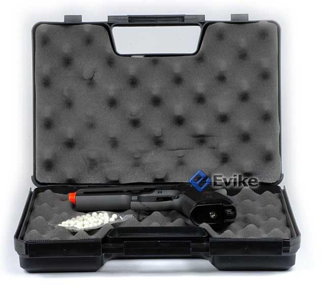 HFC M800 Fully Automatic Full Metal Airsoft Gas Blowback Pistol w/ Gun Case.