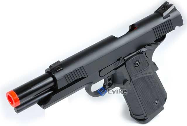 KJW Full Metal 1911 Tactical HI-CAPA Gas / CO2 Blowback - Black (Package: Add Co2 Magazine)