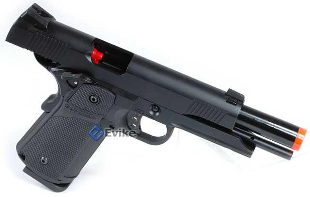 KJW Full Metal 1911 Tactical HI-CAPA Gas / CO2 Blowback - Black (Package: Pistol)