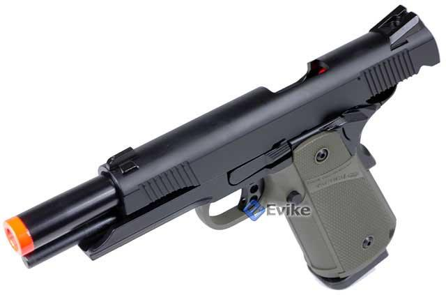KJW Full Metal 1911 Tactical HI-CAPA Gas / CO2 Blowback - OD Green (Package: Pistol)