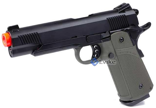 KJW Full Metal 1911 Tactical HI-CAPA Gas / CO2 Blowback (Package: OD  Green / Pistol)