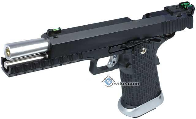 KJW Xcelerator 6 Hi-CAPA Full Metal Airsoft Gas Blowback Gun (Gas / Black)