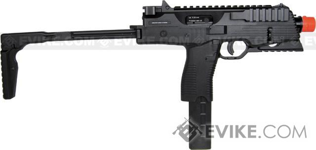 KWA KMP9 New Version Railed Gas Blowback Airsoft Submachine Gun (NS2 System) - Black
