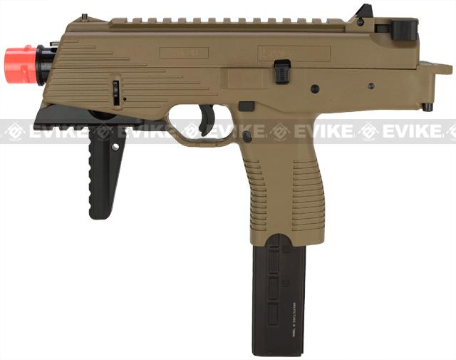 KWA KMP9 New Version Railed Gas Blowback Airsoft Submachine Gun (NS2 System) (Color: Dark Earth)