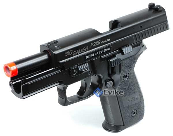 Pre-Order ETA March 2017 SoftAir Sig Sauer Licensed KJW P229 Full Metal Airsoft Gas Blowback