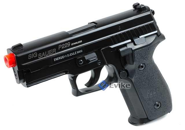 Pre-Order ETA June 2017 SoftAir Sig Sauer Licensed KJW P229 Full Metal Airsoft Gas Blowback