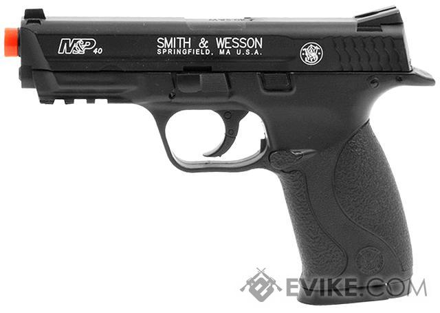Smith and Wesson M&P40 CO2 Powered Non-Blowback Airsoft Pistol by Softair - Black