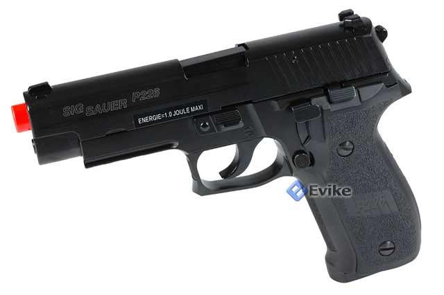 KJW Sig Sauer P226 Full Metal Gas Blowback Airsoft Gun Pistol - New Enhanced Version