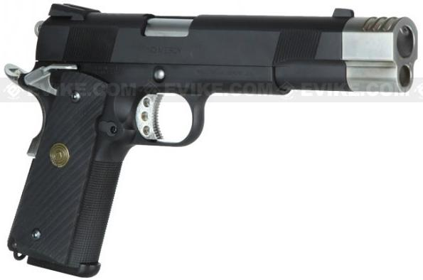 Pre-Order ETA May 2017 Socom Gear WE Full Metal Punisher 1911 Airsoft Gas Blowback Pistol w/ Compensator & Gun Case