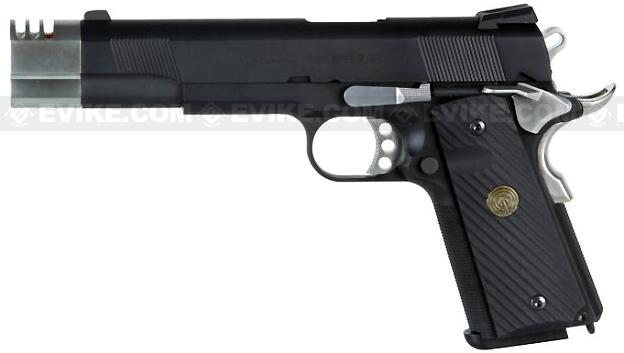 Socom Gear WE Full Metal Punisher 1911 Airsoft Gas Blowback Pistol w/ Compensator & Gun Case