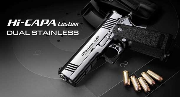Tokyo Marui Limited Edition Dual Stainless Hi-Capa Custom Airsoft Gas Blowback