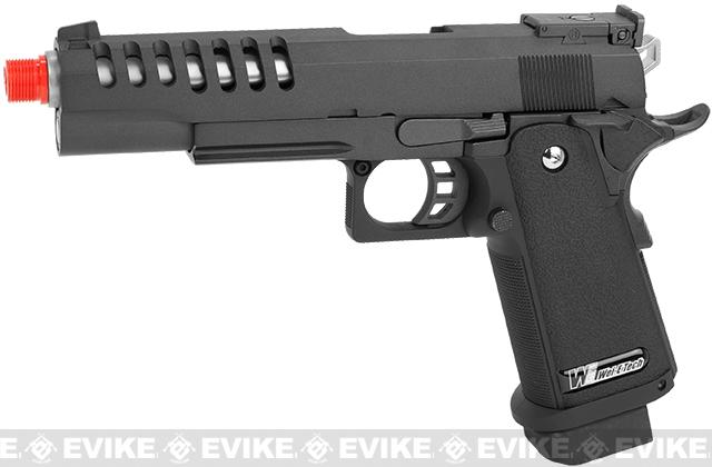 WE Full Metal Hi-CAPA Hyper Speed Airsoft Gas Blowback (Threaded Barrel / Railed Frame)