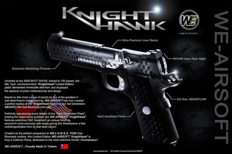WE Full Metal Limited Edition Nighthawk Custom 1911 Airsoft Gas Blowback
