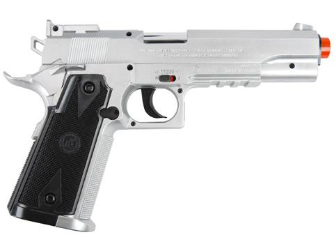 Win Gun High Power 1911 Co2 Powered Airsoft Gas Pistol - Silver