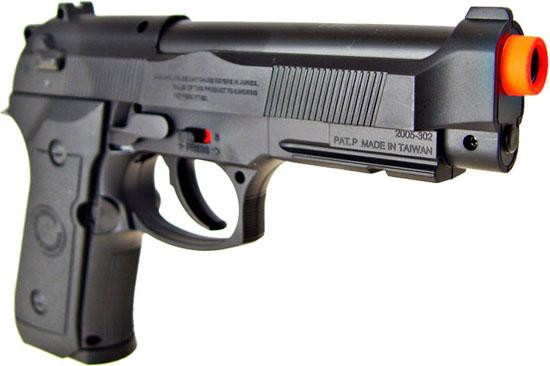 Win Gun High Power M9 Co2 Powered Airsoft Gas Pistol - Black