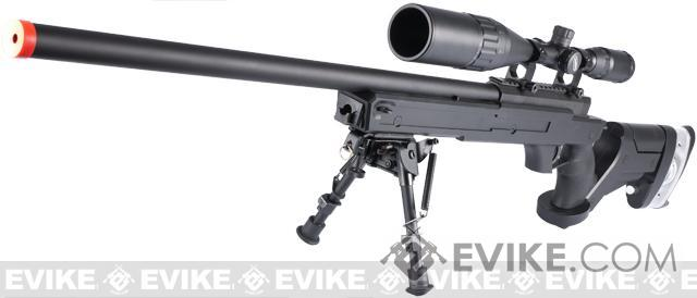 WELL Full Size G25 Bolt Action Gas Sniper Rifle with Adjustable Stock