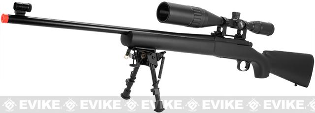 KJW 500+ FPS Full Metal M700 High Power Airsoft Gas Sniper Rifle - (Package: Add 3-9x40 Scope + Harris Style Bipod)