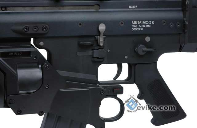 FN Licensed Full Metal SCAR EGLM Custom Airsoft GBB Gas Blowback by WE - Black