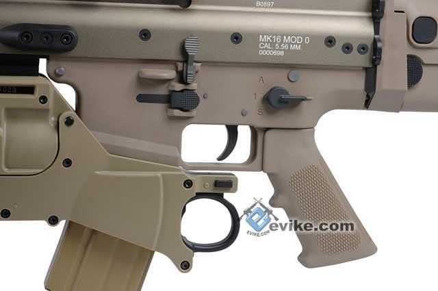 FN Licensed Full Metal SCAR EGLM Custom Airsoft GBB Gas Blowback by WE - Dark Earth