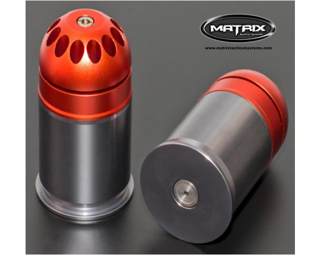 Matrix Mosquito NRS2 No Reset CNC Aluminum 120rd 40mm Airsoft Gas Launcher Grenade - One