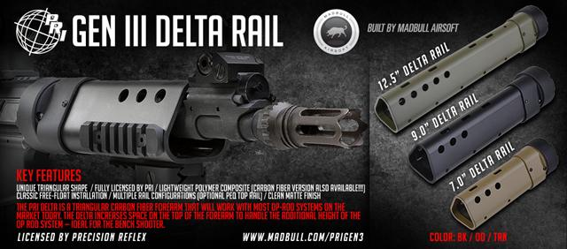 Madbull Airsoft PRI Licensed Gen III Delta Rail 9 - Black