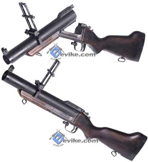 King Arms Full Metal M79 Airsoft Grenade Launcher (Aluminum Barrel / Real Wood Stock)