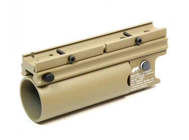 Mad Bull XM203 Short Type Airsoft Grenade Launcher (Tan)