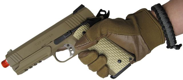 Matrix Nomex Hard Shell Knuckle Tactical Gloves - Tan (Size: X-Large)