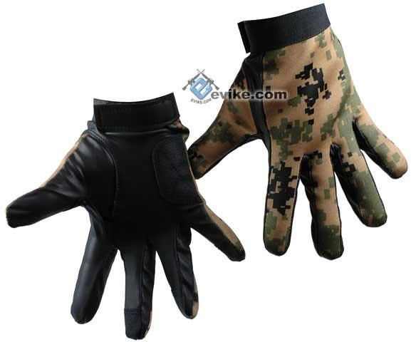 Matrix Special Forces Neoprene Tactical Gloves - Digital Woodland Marpat Camo (Size: Large)