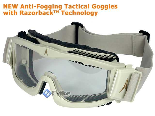 Arena Anti-Fogging FlakJak Tactical Goggle w/ Razorback Technology