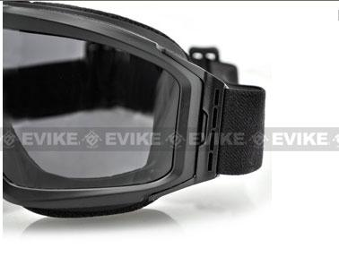 Bobster Ballistics ANSI Z87 / Anti-Fog Alpha Interchangeable Ballistic Goggle - Black
