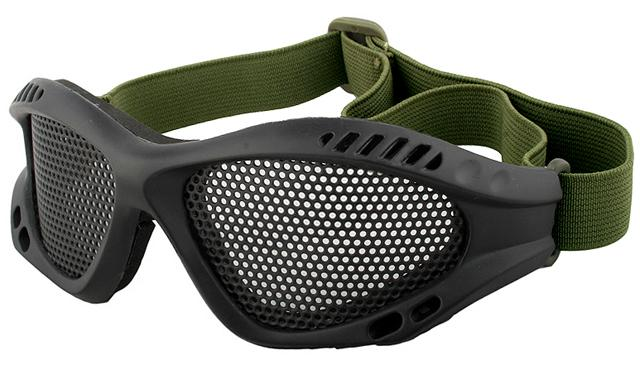 Avengers Zero Wire Mesh Adjustable Shooting Range Goggles - Black