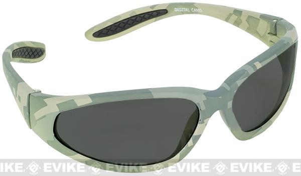 z Global Vision Extreme Sports Safety Shooting Goggles - Shaded Lens / ACU Marpat