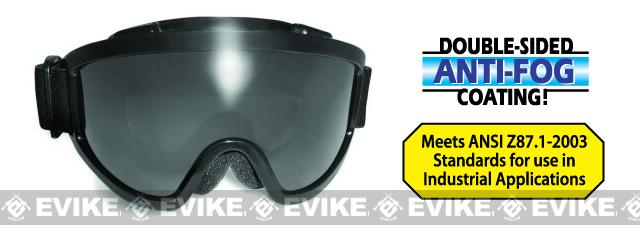 Global Vision Windshield Anti-Fog Full Seal Goggle - Smoke