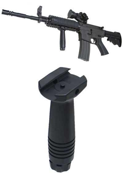 Military Grade Tactical Vertical Support RIS Mount Grip (Color: Black)