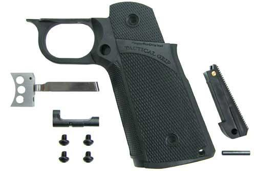 KJW Tanio Koba Marui / WE / KJW Hi-Capa Tactical Grip Set. (Black)