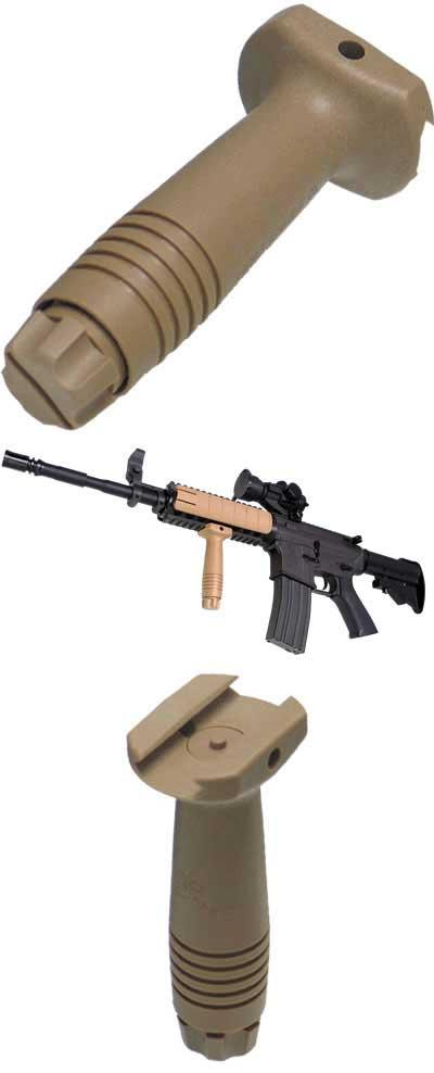 Military Grade Tactical Vertical Support RIS Mount Grip (Color: Desert Tan)