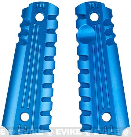 z Matrix Aluminum CNC Grip for 1911 sereis Airsoft GBB (Blue)