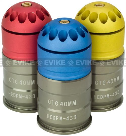 Avengers Enhanced M203 40mm Airsoft Grenade Shell - 84rd (One)