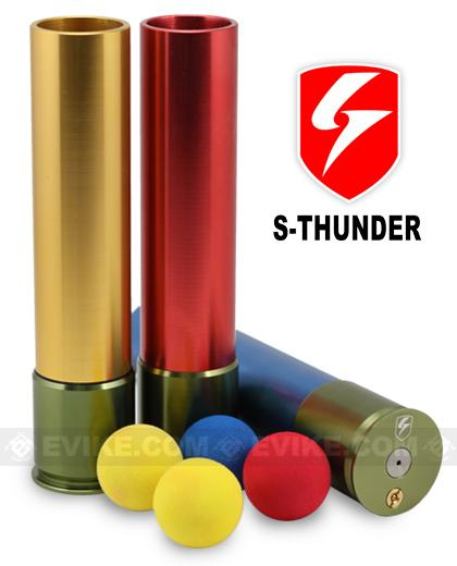 S-Thunder Loudest Foam Ball 40mm Airsoft Gas Grenade - Long Type (One)