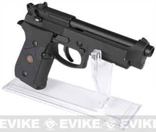 Matrix Clear Deluxe Pistol Professional Display Stand for Airsoft and Real Steel