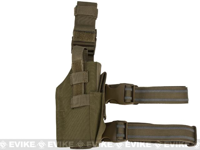 Condor Hard Shell Fast Draw Tactical Leg Holster - OD Green