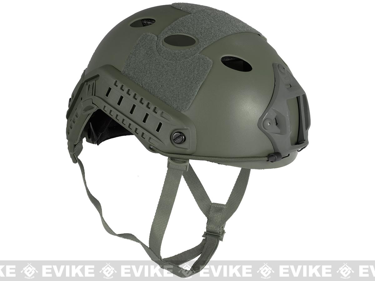 6mmProShop Bump Type Tactical Airsoft Helmet (PJ Type / Advanced / Foliage Green)